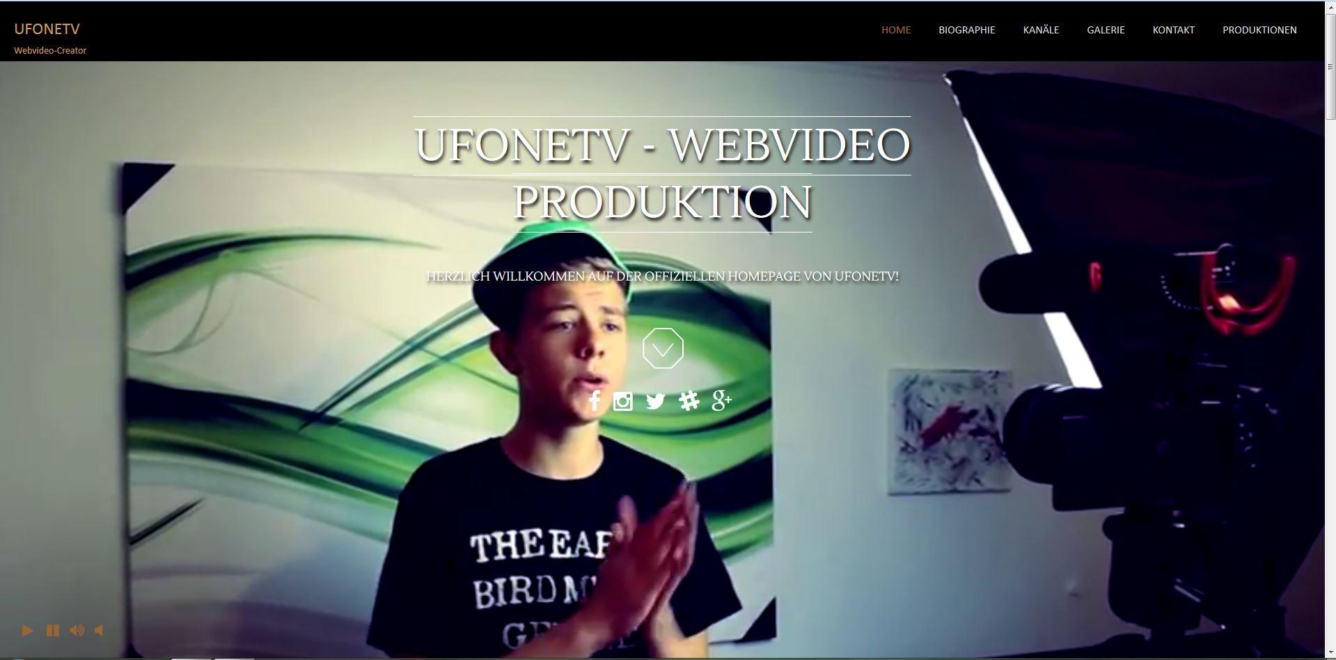 Homepage für UFONETV